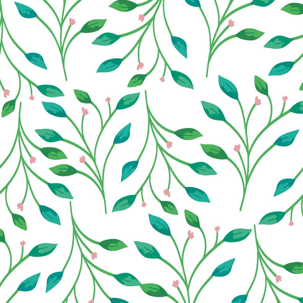 fond de branches avec décoration de feuilles vecteur