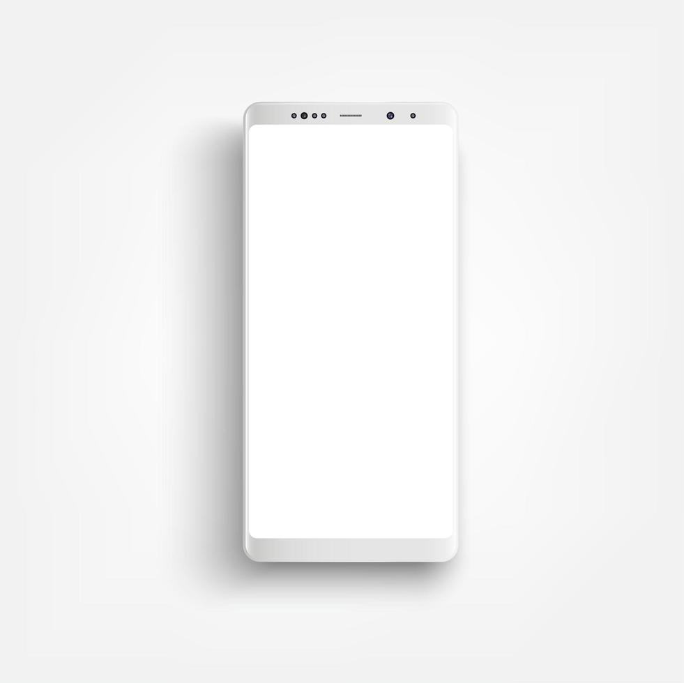 maquette de smartphone blanc réaliste moderne vecteur