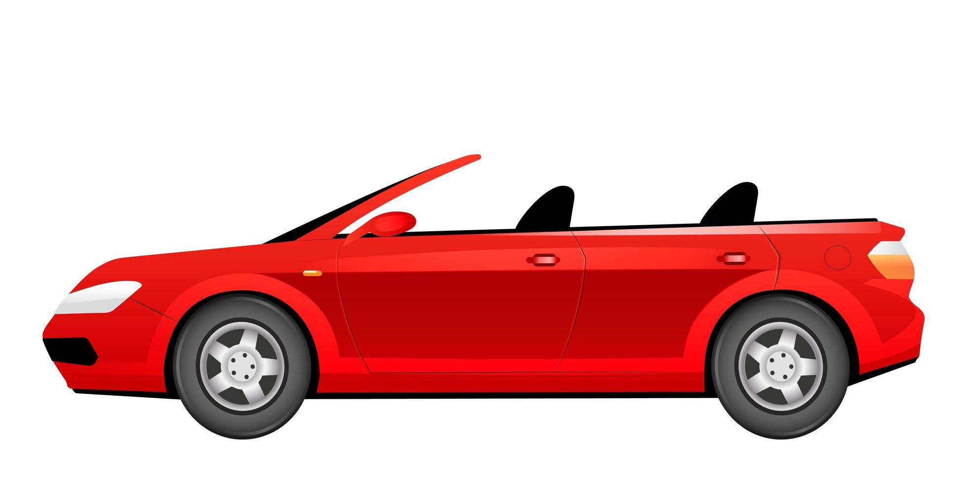 illustration vectorielle de dessin animé cabriolet rouge vecteur