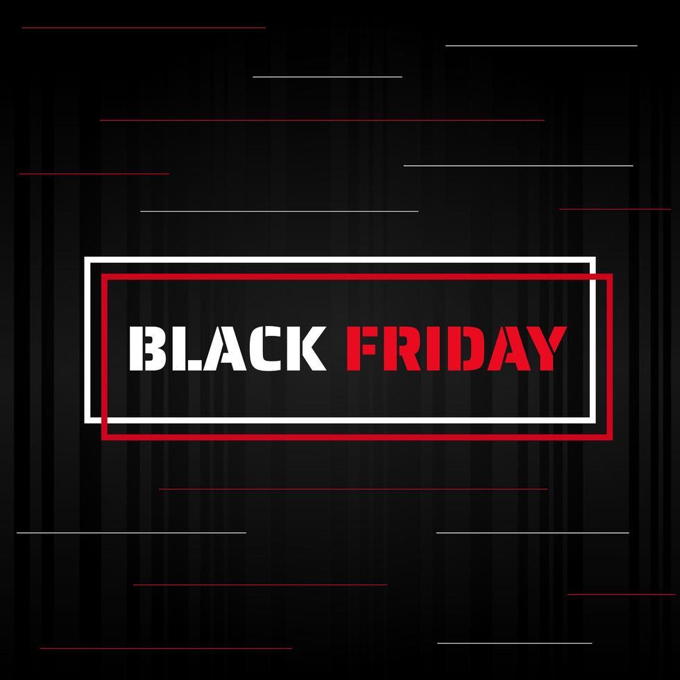 bannière de vente de style moderne de conception d'affiche de vendredi noir pour le shopping vecteur