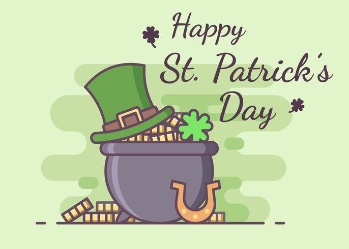 Célébration de la Saint-Patrick vecteur