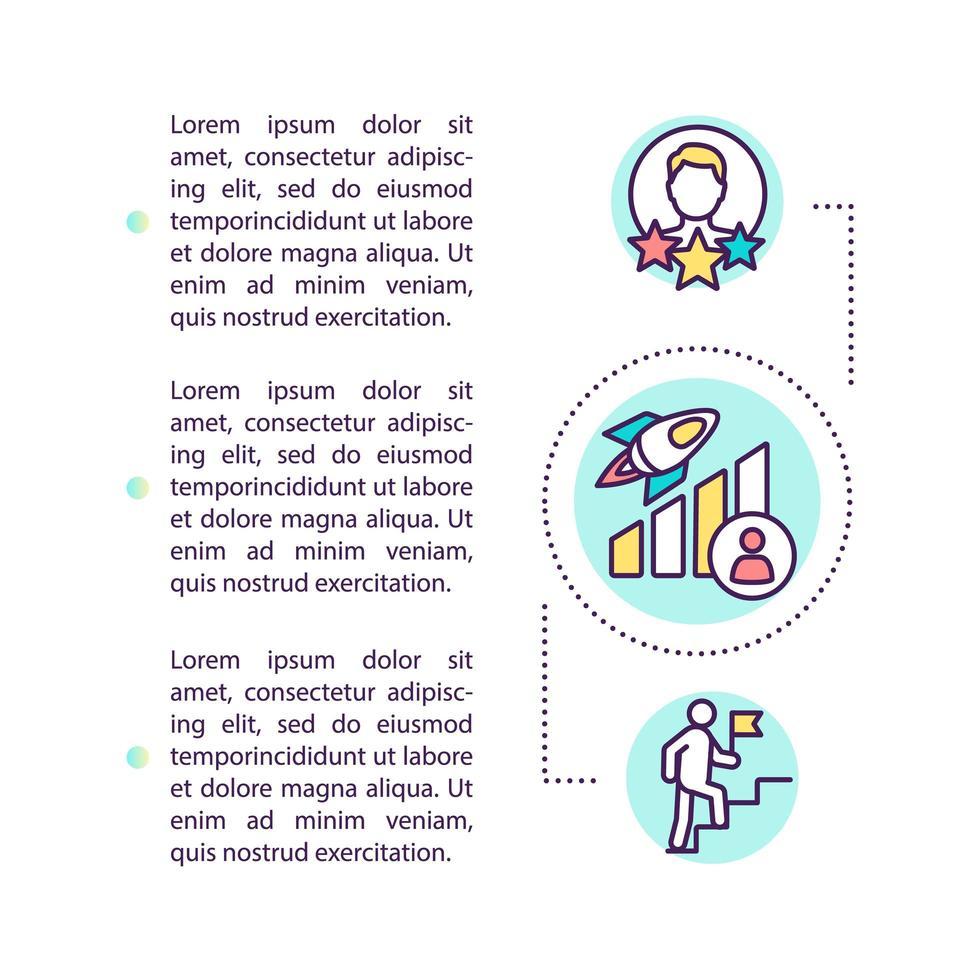 icône de concept d'amélioration personnelle avec texte vecteur