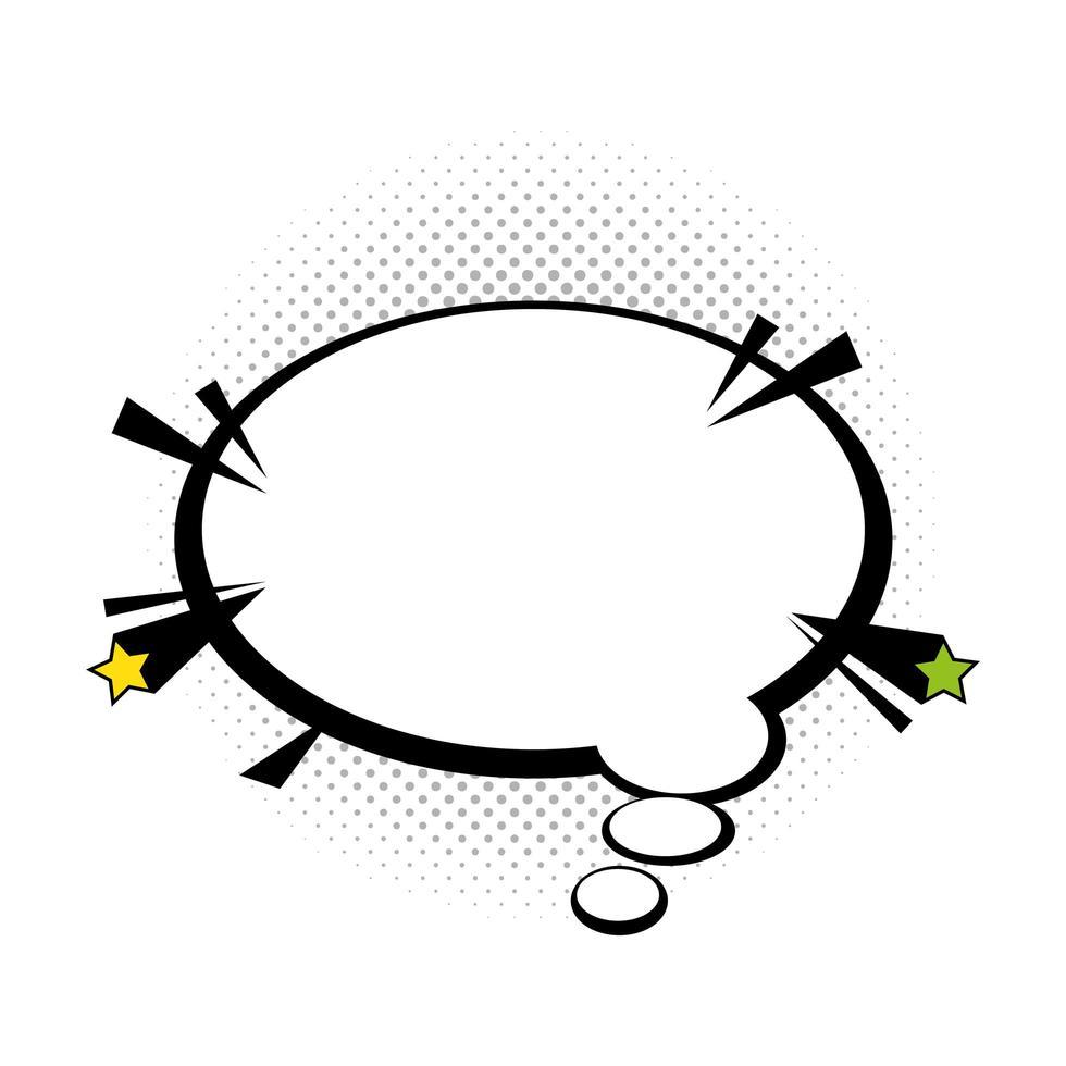 style pop art bulle discours vecteur