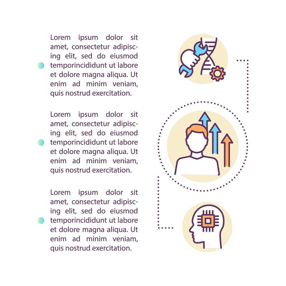 icône de concept de biotechnologie avec texte vecteur