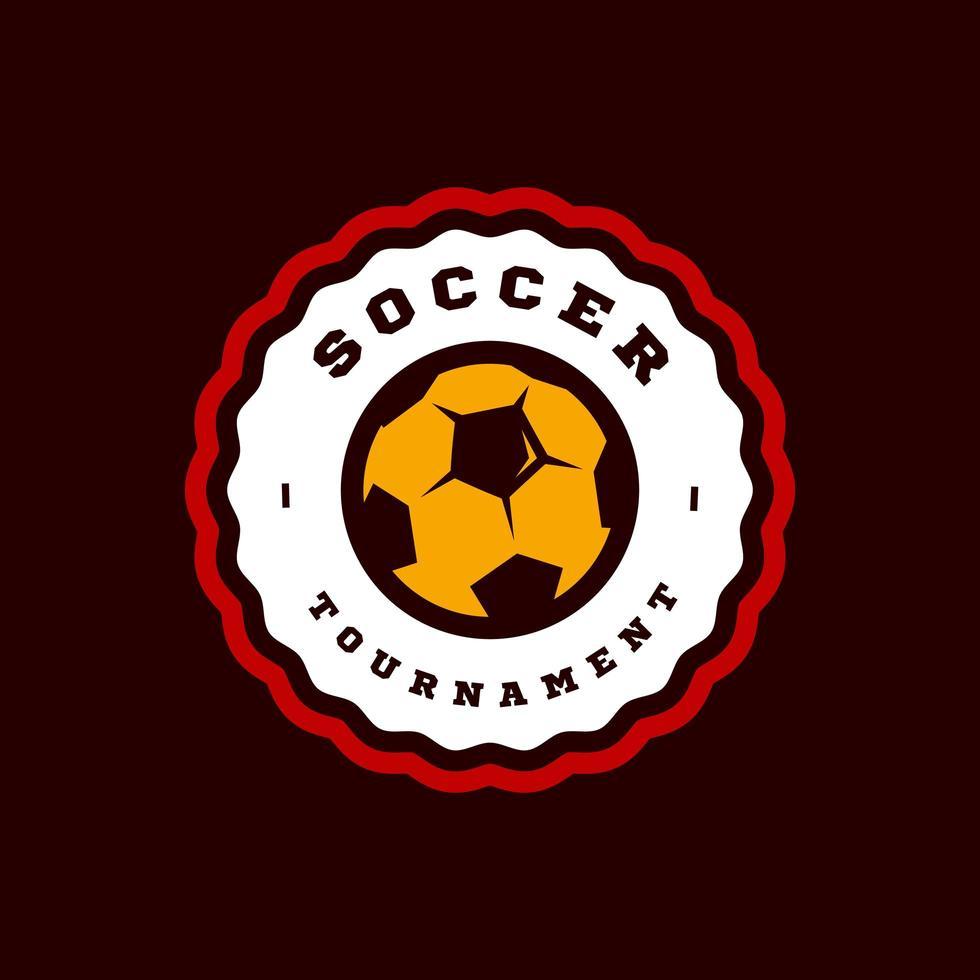 typographie de sport professionnel moderne de football ou de football dans un style rétro. emblème de conception de vecteur, insigne et création de logo de modèle sportif vecteur