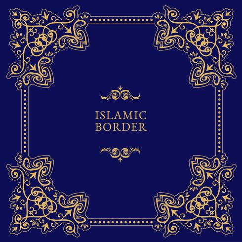 Vecteur de frontière islamique