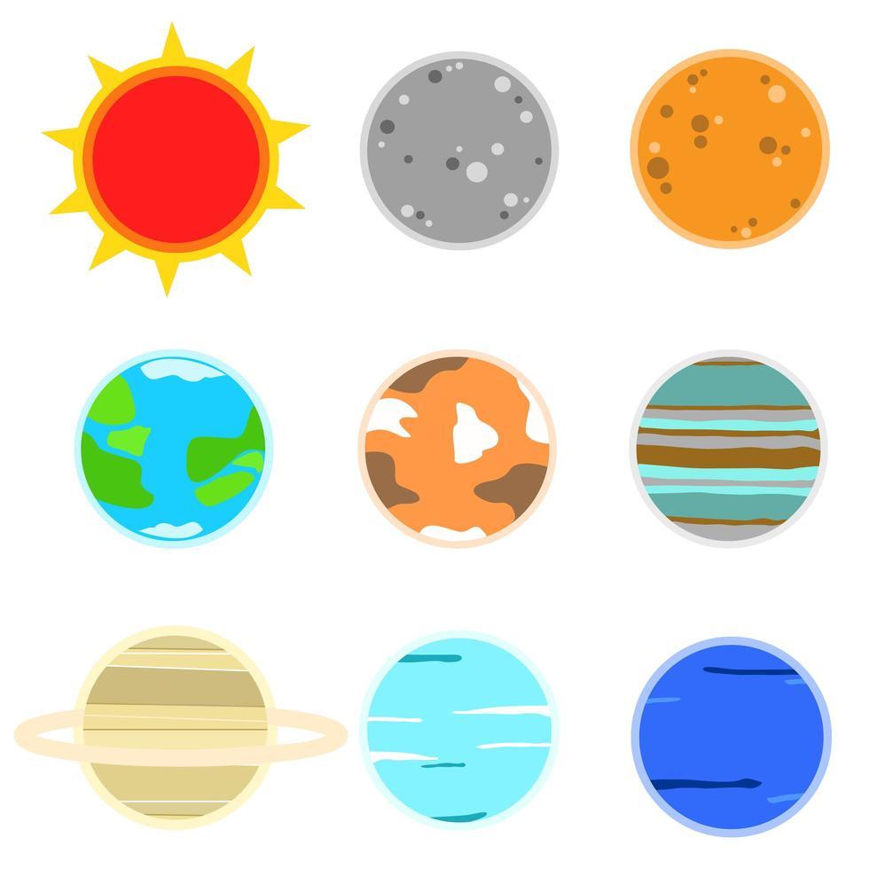 icône de la planète se vecteur