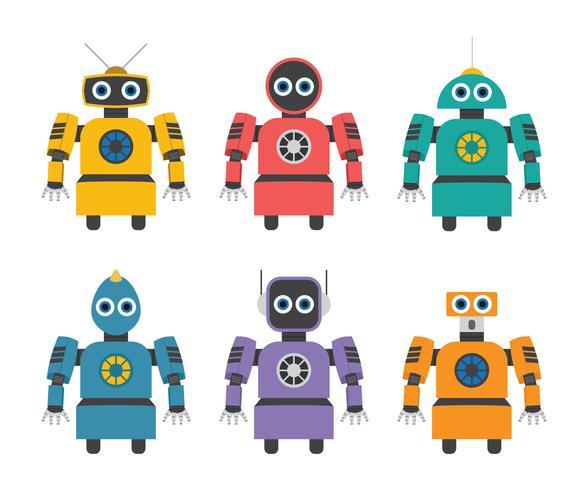 Robot d'intelligence artificielle vecteur