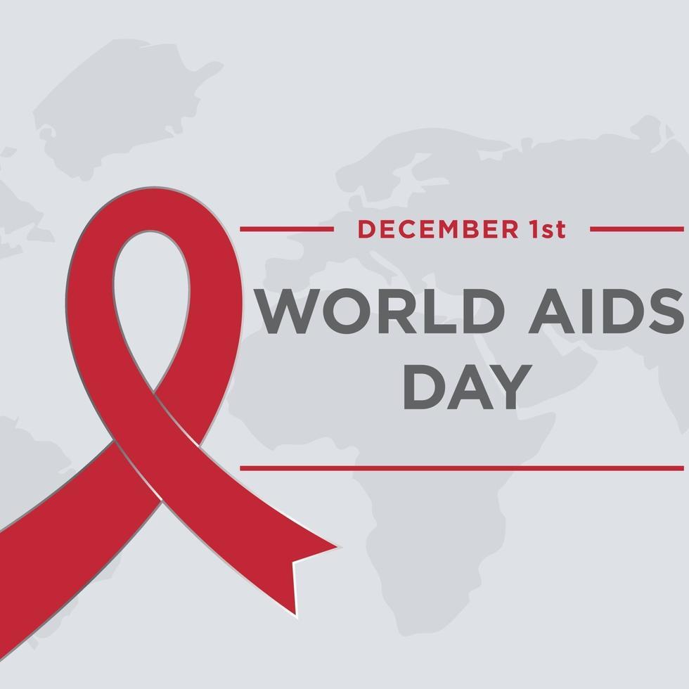 modèle de conception de la journée mondiale du sida vecteur