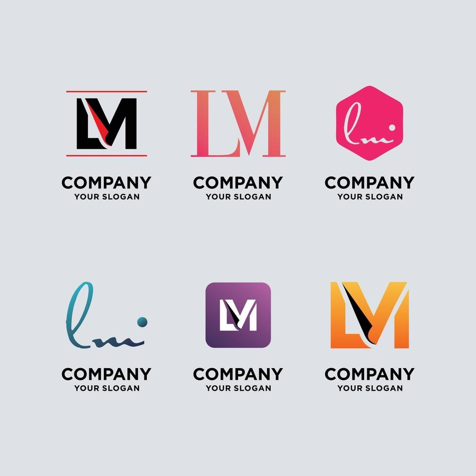 ensemble de modèles de conception de logo monogramme vecteur