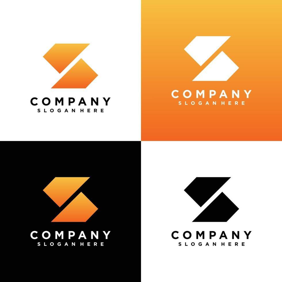ensemble de conception de logo monogramme lettre s vecteur