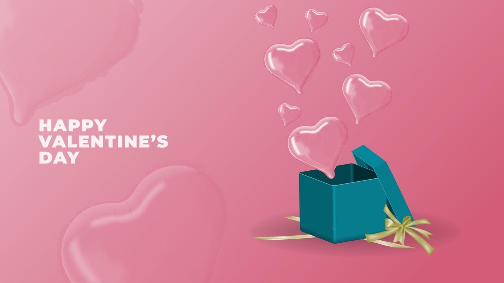 joyeuse saint valentin vecteur 3d