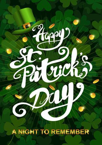 Illustration de St Patricks Day heureux vecteur
