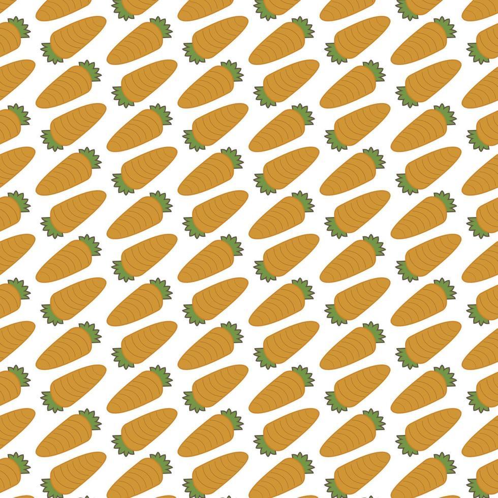 modèle sans couture de carottes vecteur
