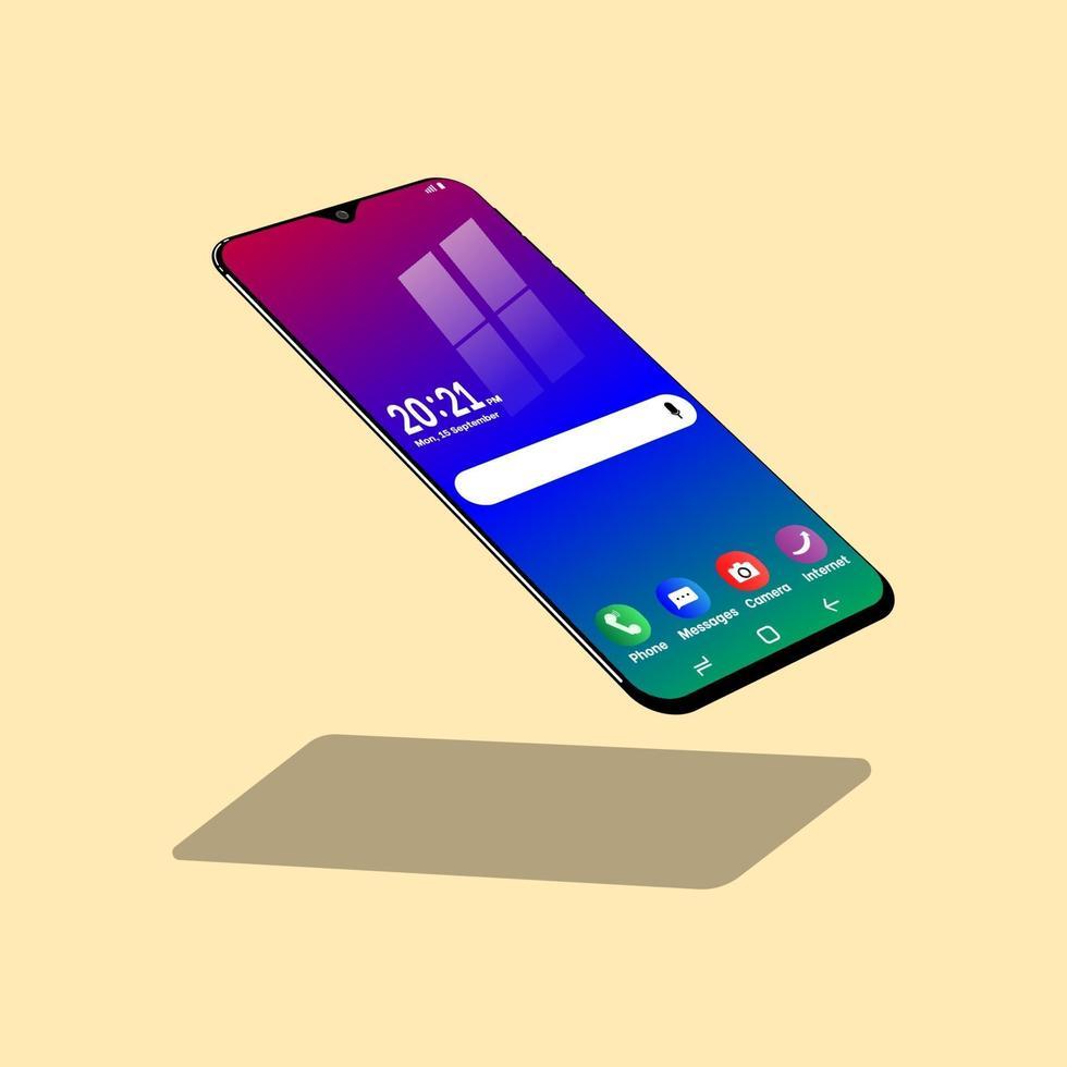 nouveau téléphone portable vecteur
