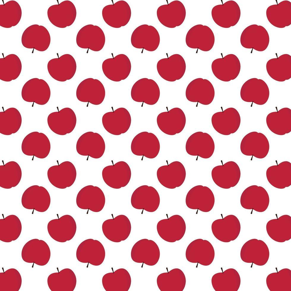 motif de pommes rouges vecteur