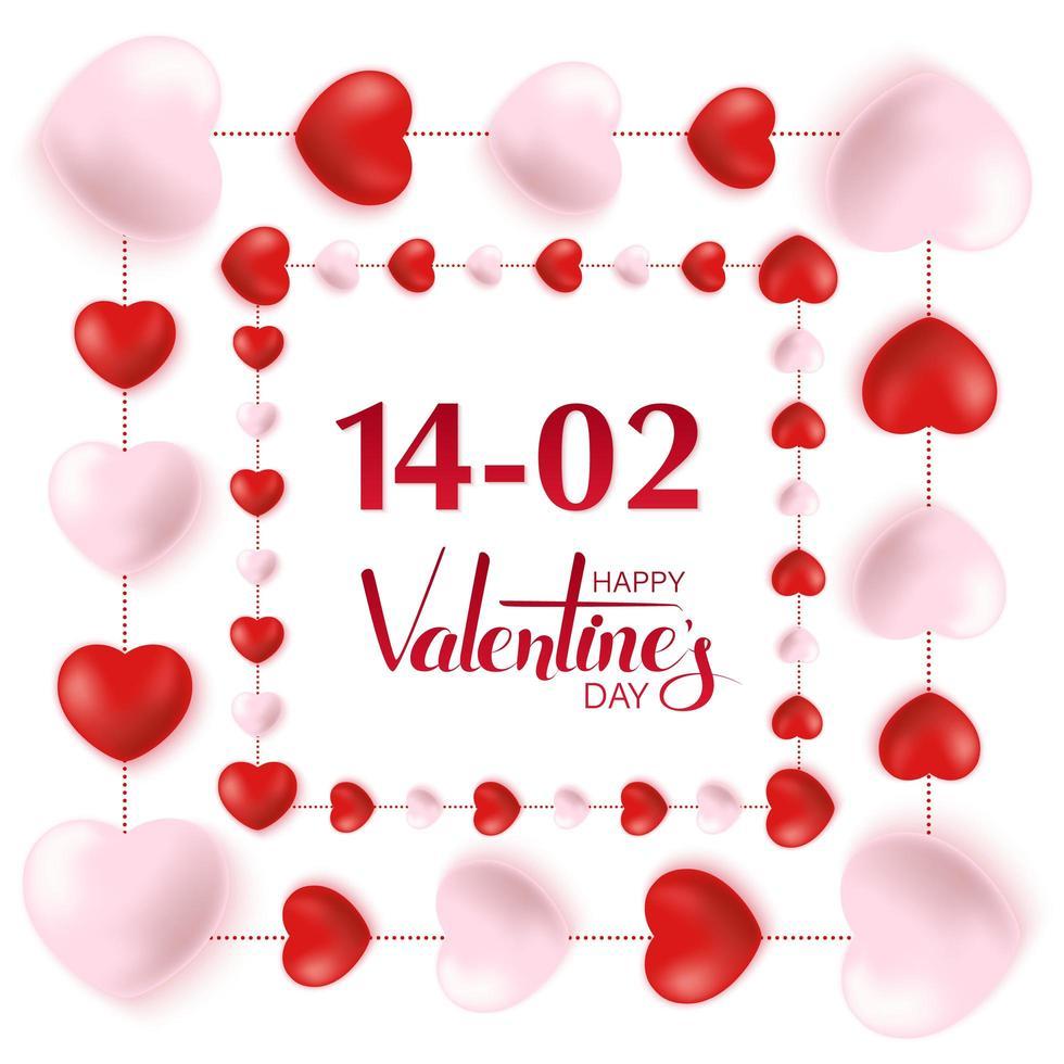 conception de carte de voeux joyeuse saint valentin vecteur