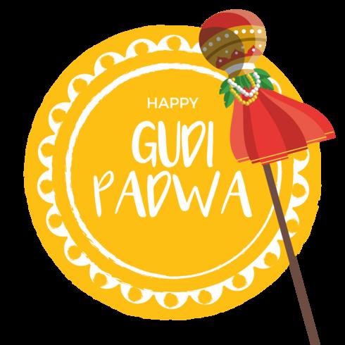 Gudi Padwa Carte de vœux vecteur