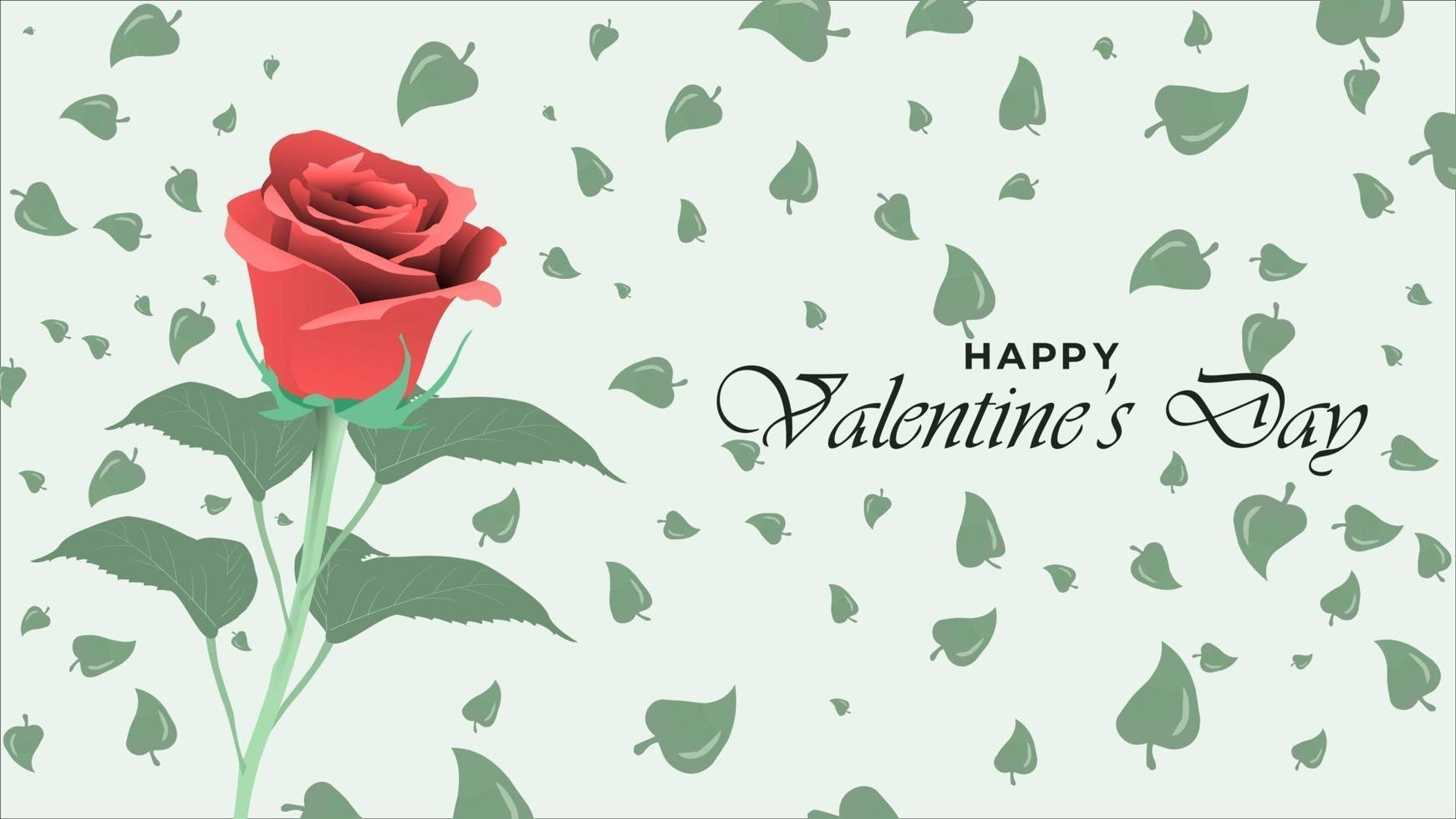 joyeux fond de saint valentin avec des objets de conception de fleur rose réalistes vecteur