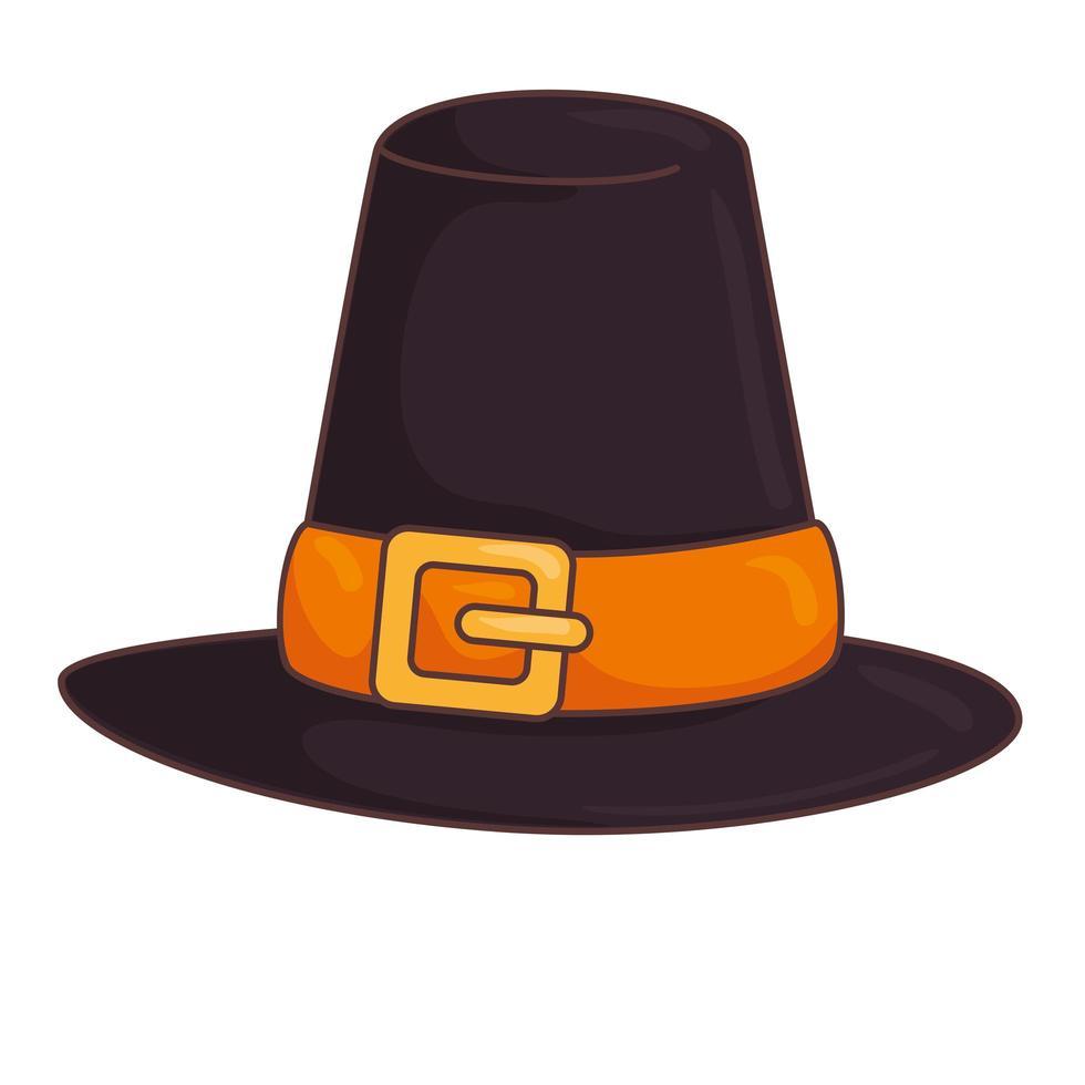 accessoire de chapeau de piligrim de Thanksgiving traditionnel vecteur
