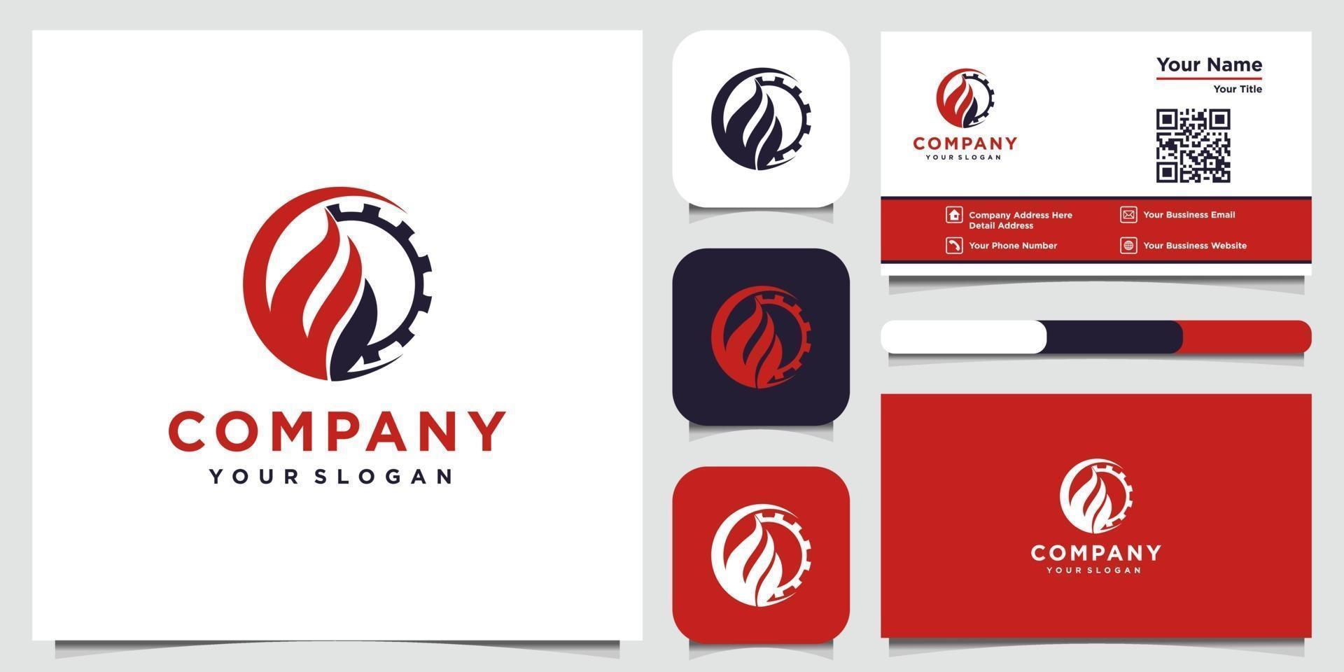inspiration de conception de logo de construction et conception de cartes de visite vecteur