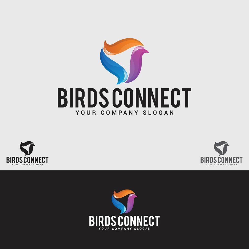 modèle de conception de logo oiseau vecteur