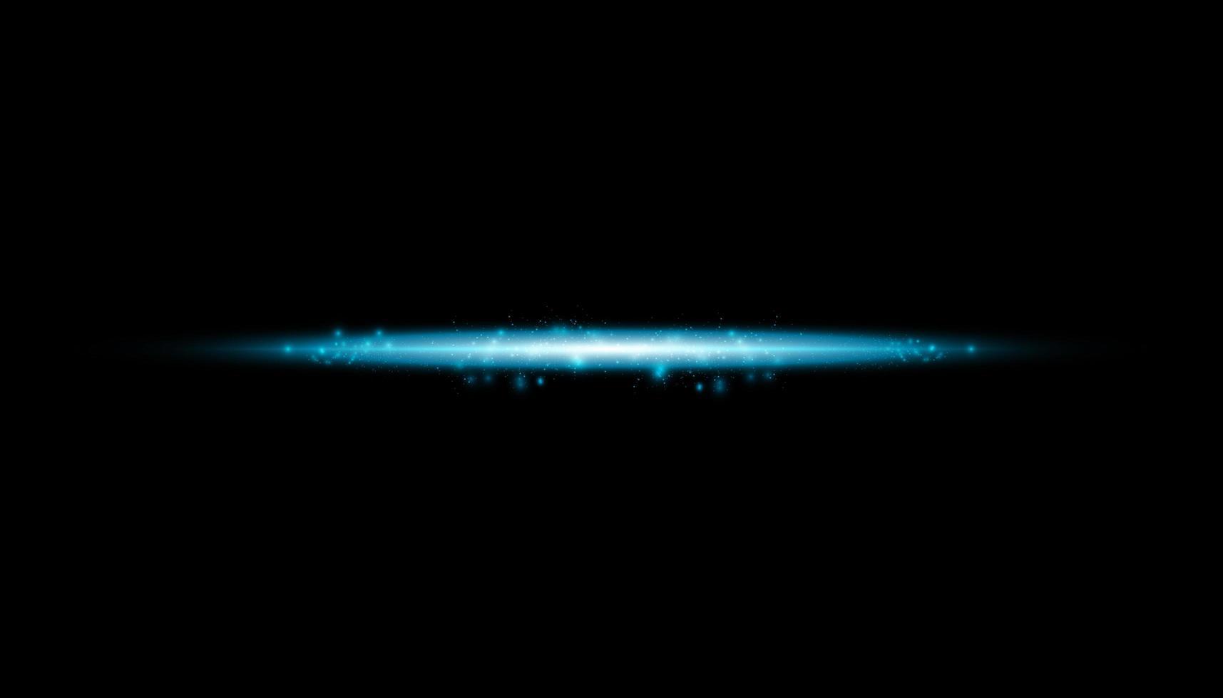 Effet transparent bleu isolé lueur, lens flare vecteur