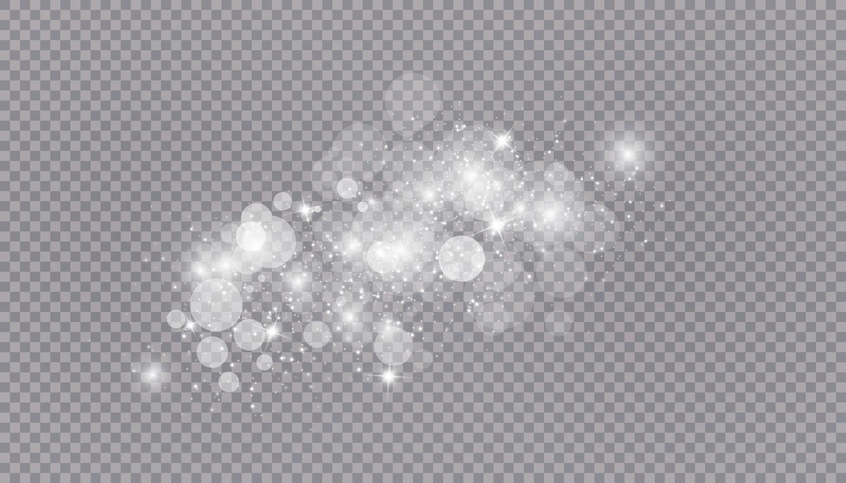 effet de lumière rougeoyante avec de nombreuses particules de paillettes isolées vecteur