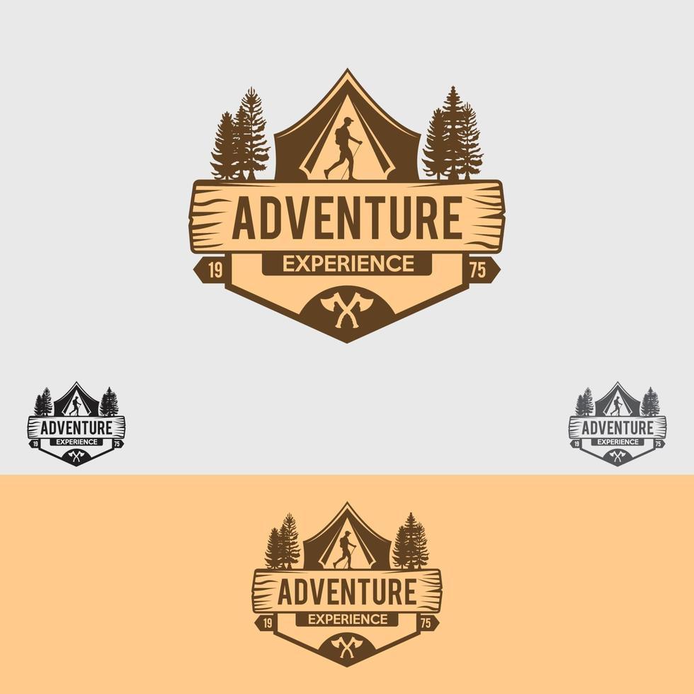 modèle de conception de logo aventure vecteur