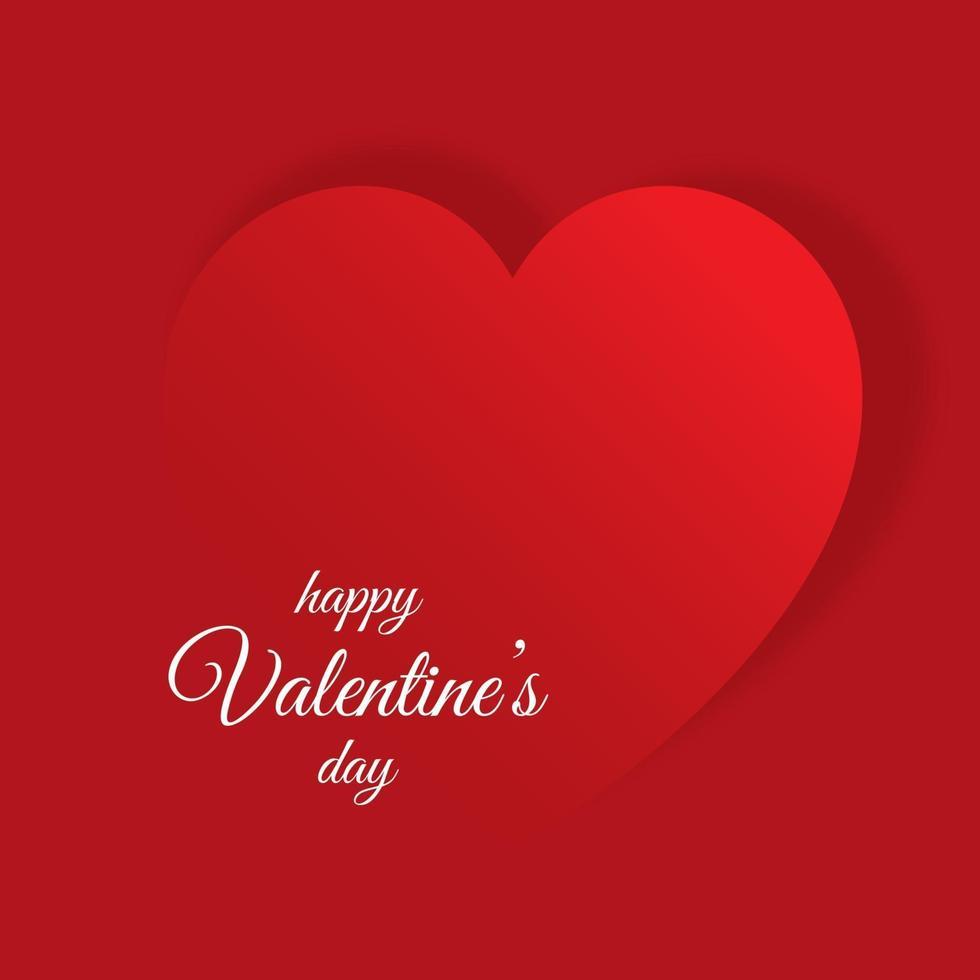 fond de saint valentin avec design coeur vecteur