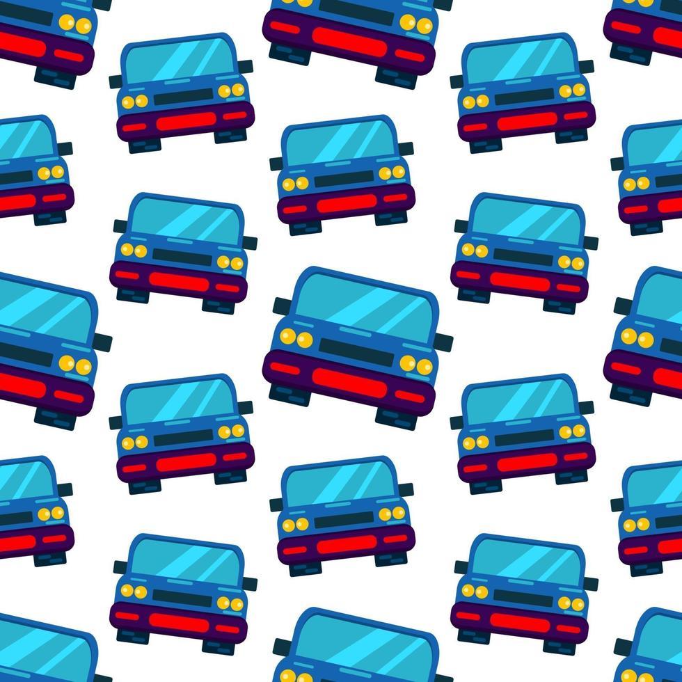 illustration de modèle sans couture voiture ville bleue vecteur