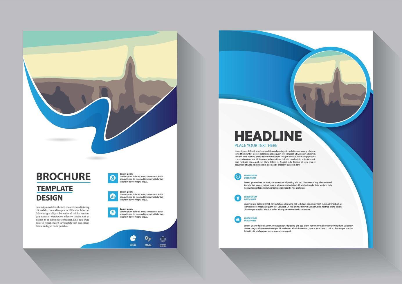 conception de modèle de flyer pour le rapport annuel de mise en page de couverture vecteur
