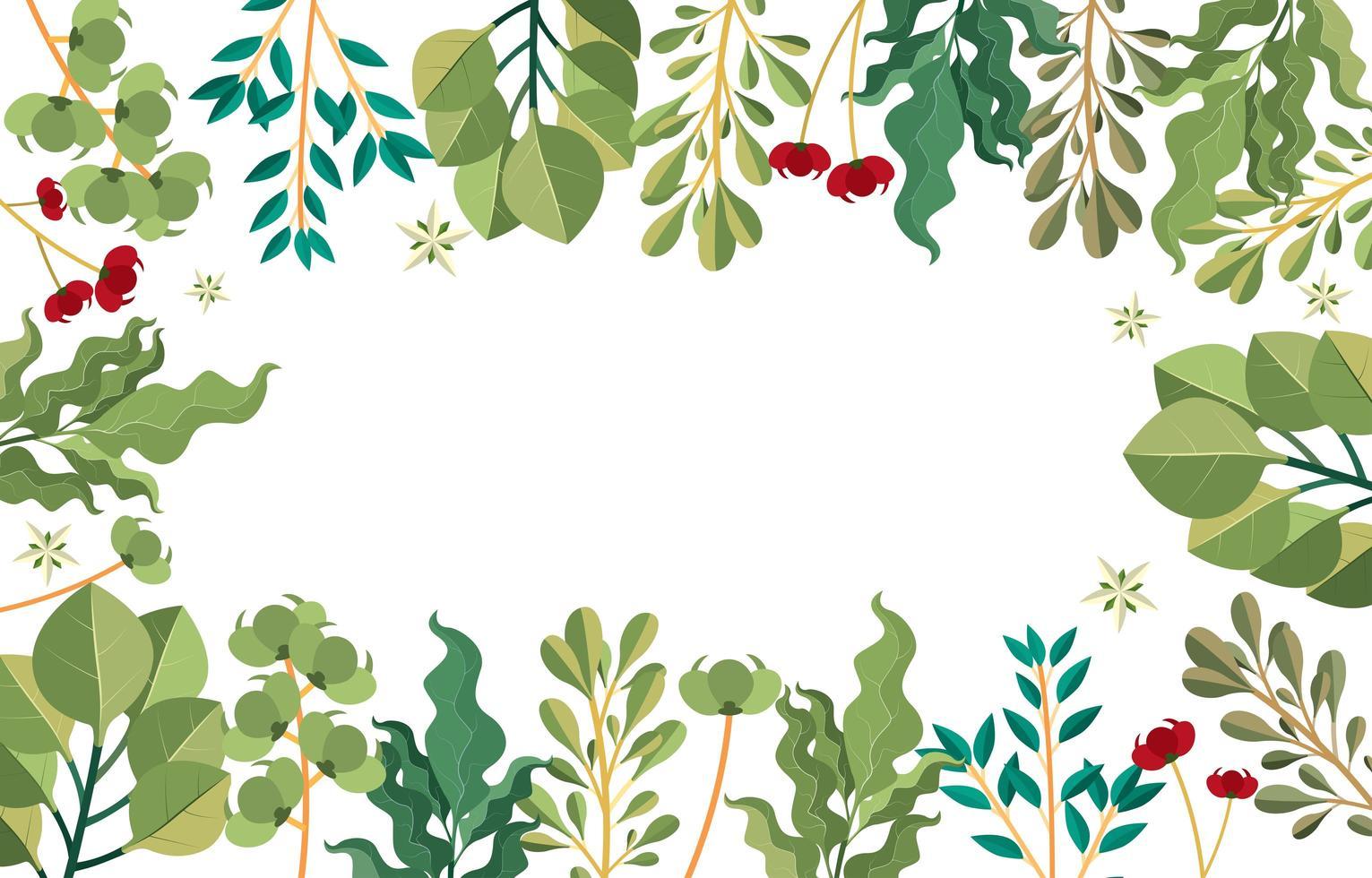 concept de fond floral nature verte vecteur