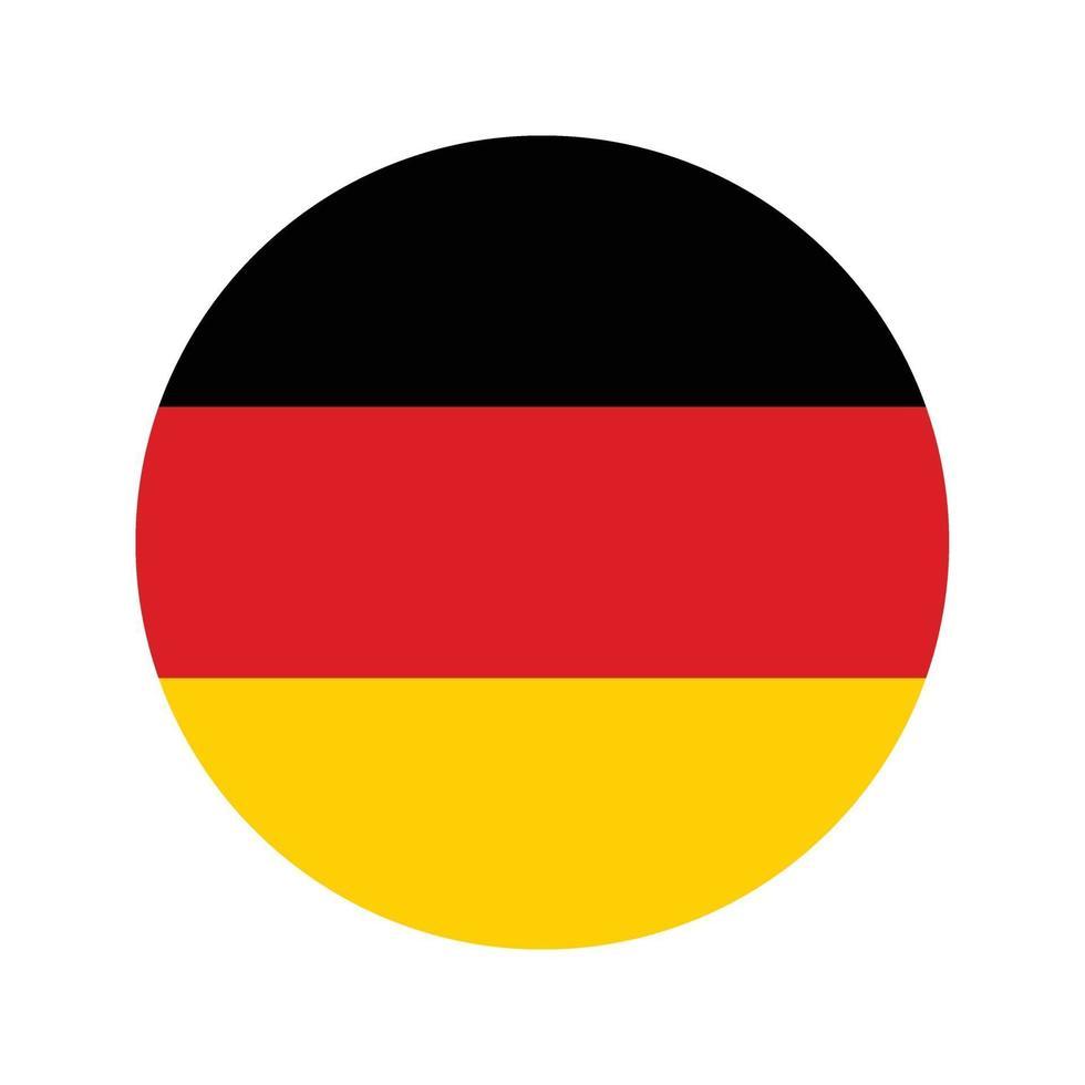 drapeau d'icône de l'Allemagne vecteur