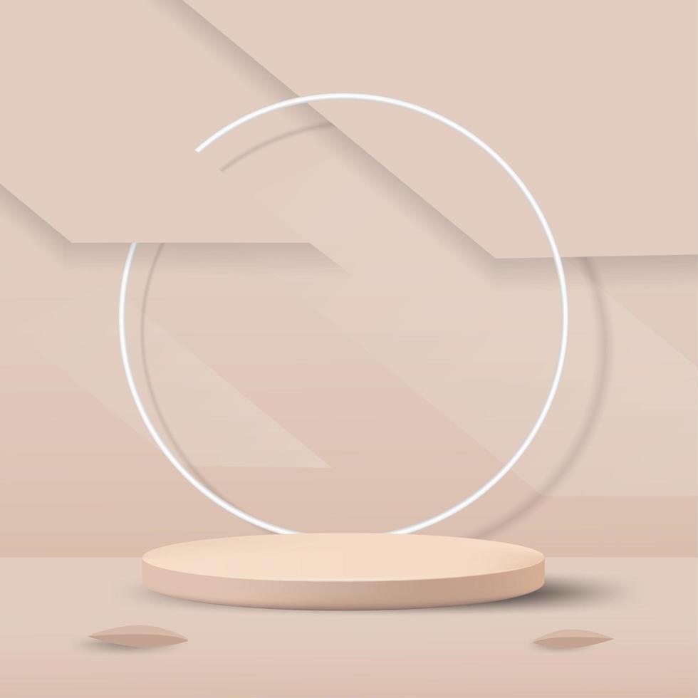 maquette de podium minimal abstrait vecteur
