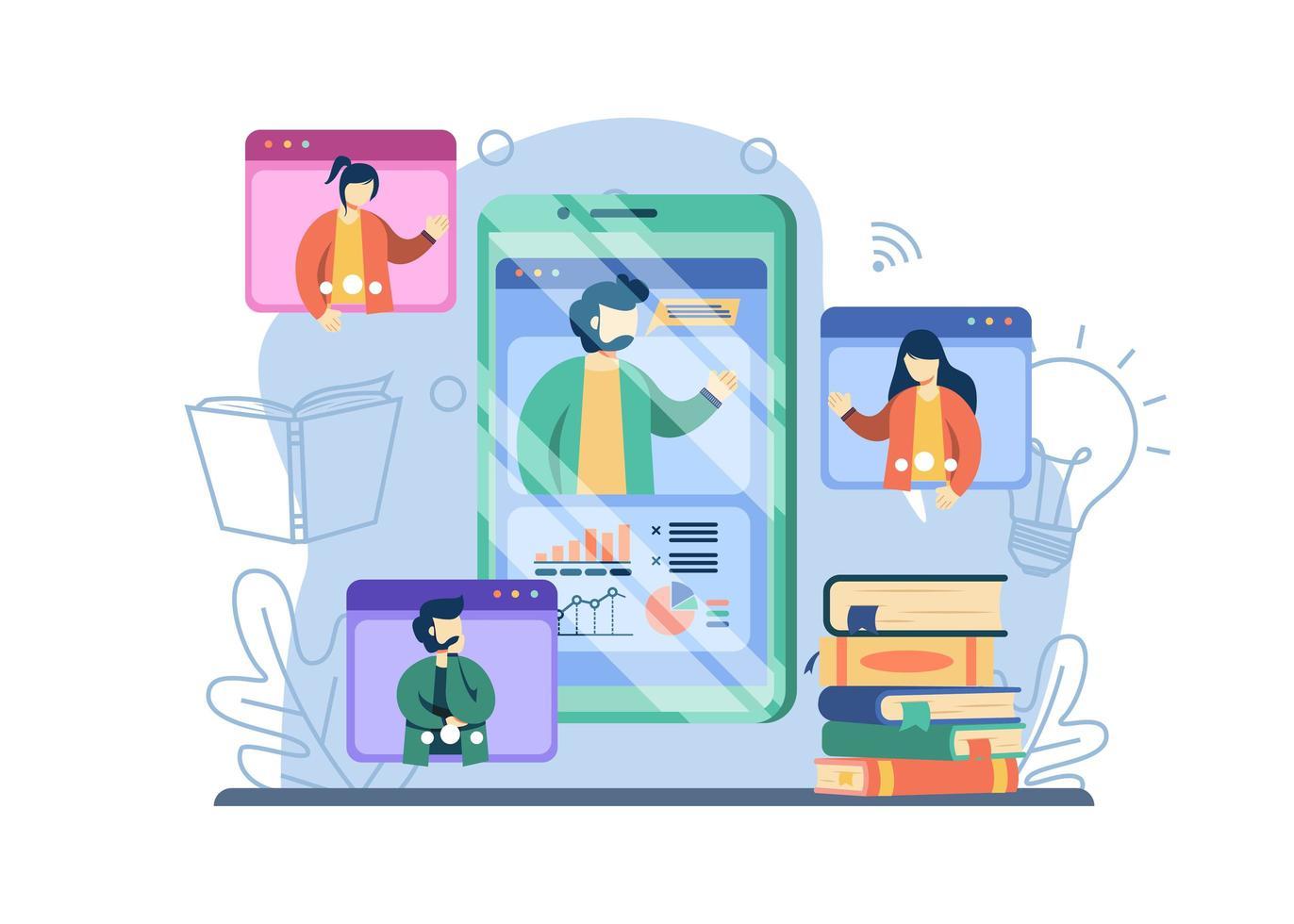 concept d'apprentissage en ligne vecteur