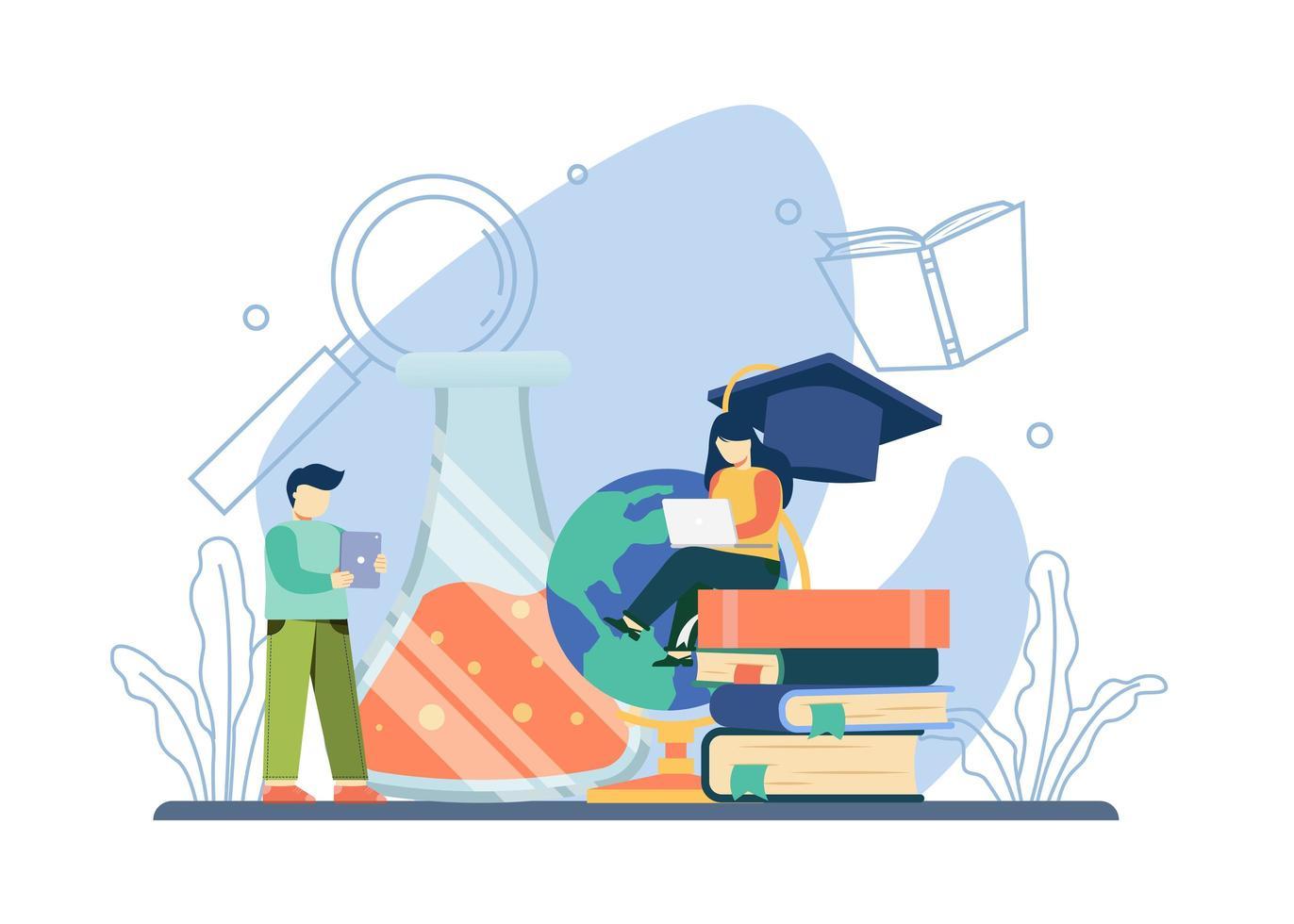 concept d'éducation universitaire vecteur