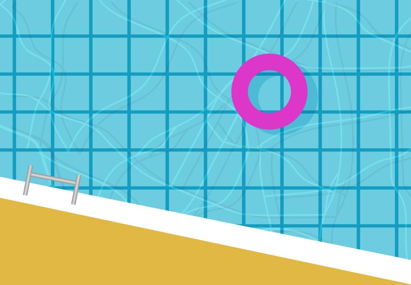 fond de piscine vue de dessus vecteur