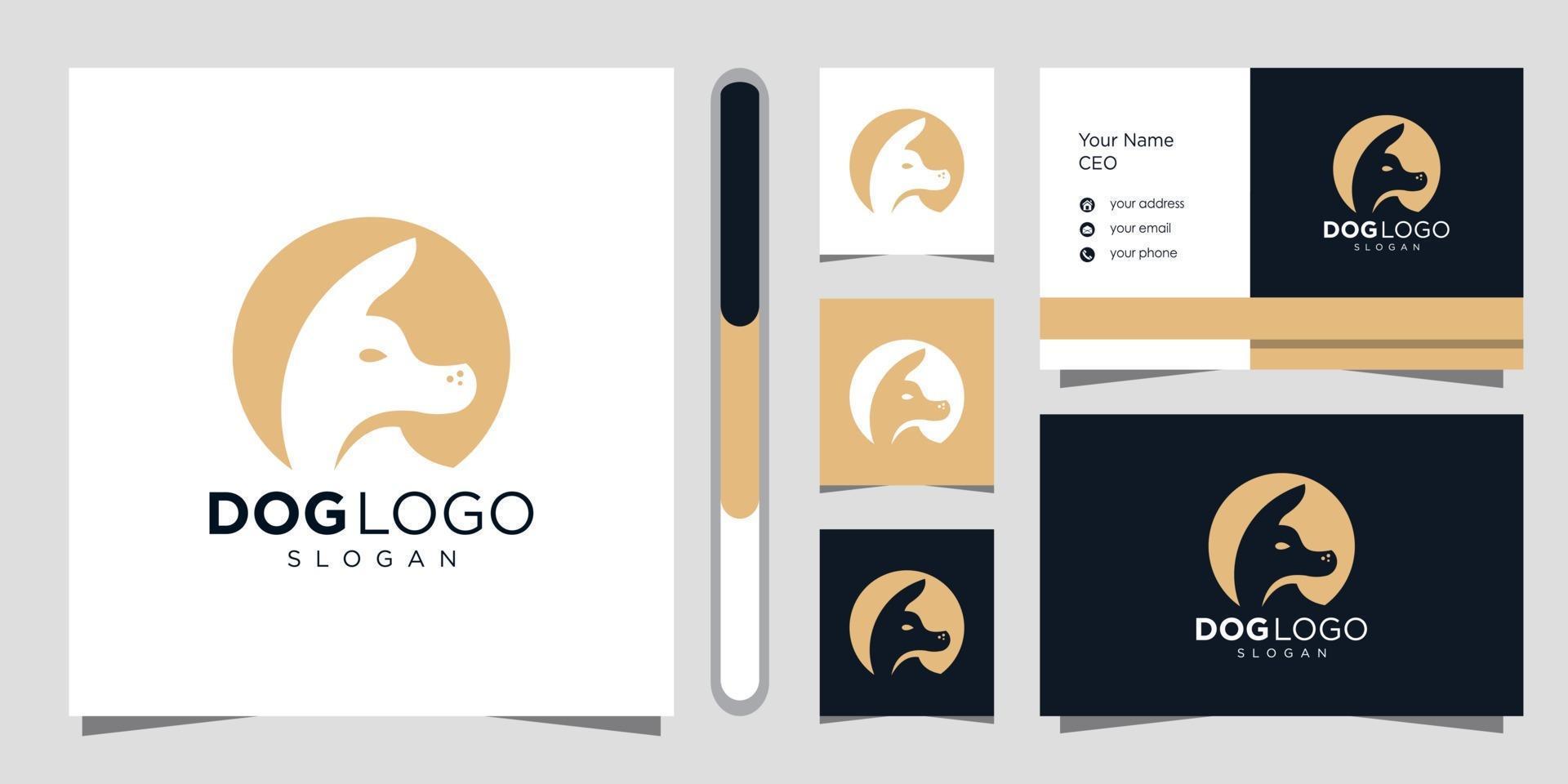 modèle de conception de logo de chien vecteur