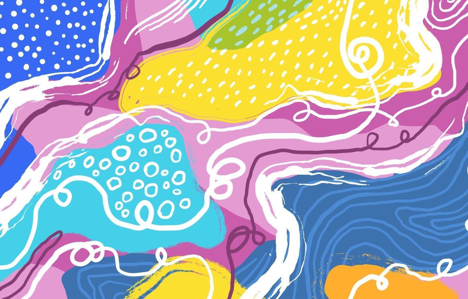 fond de style art abstrait coloré vecteur