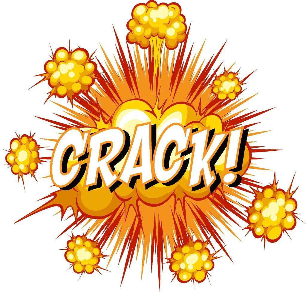 bulle de dialogue comique avec texte de crack vecteur