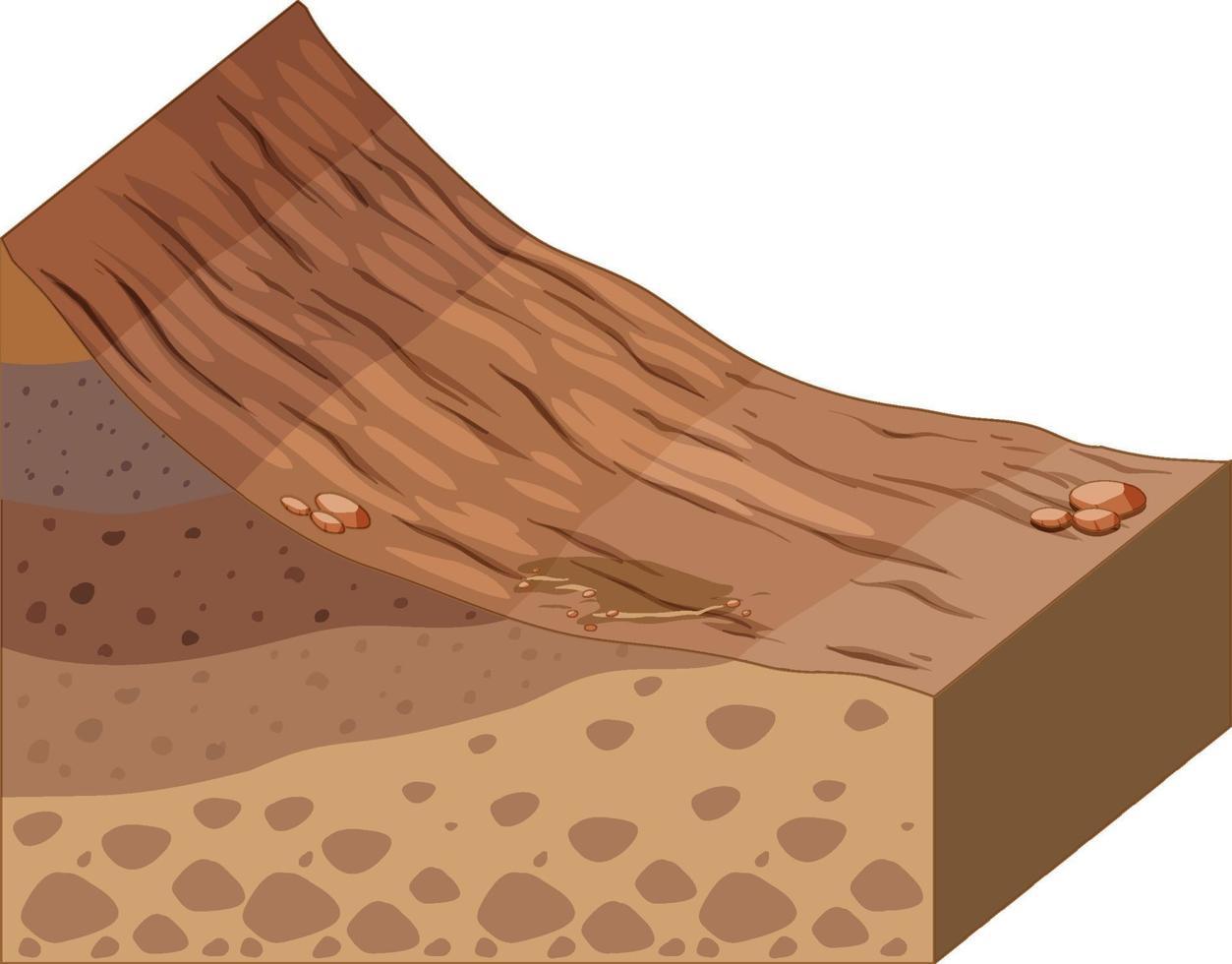 couche différente de la géologie des roches vecteur