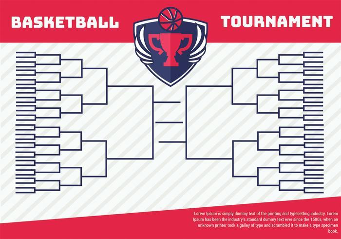 Affiche de support de tournoi de basket-ball vecteur