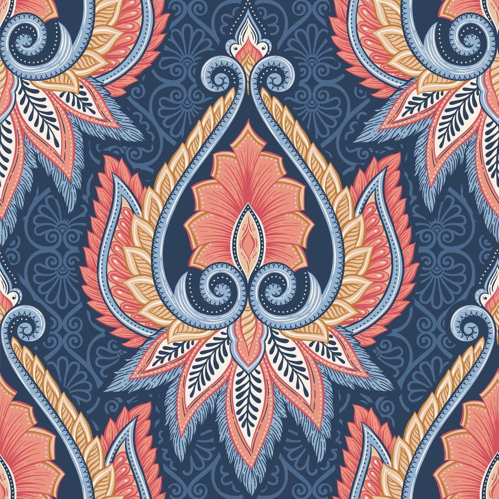 motif floral ethnique vecteur