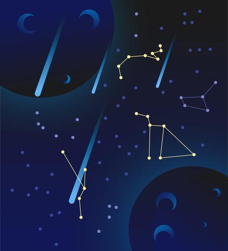 Vecteurs d'éléments d'univers exceptionnels vecteur