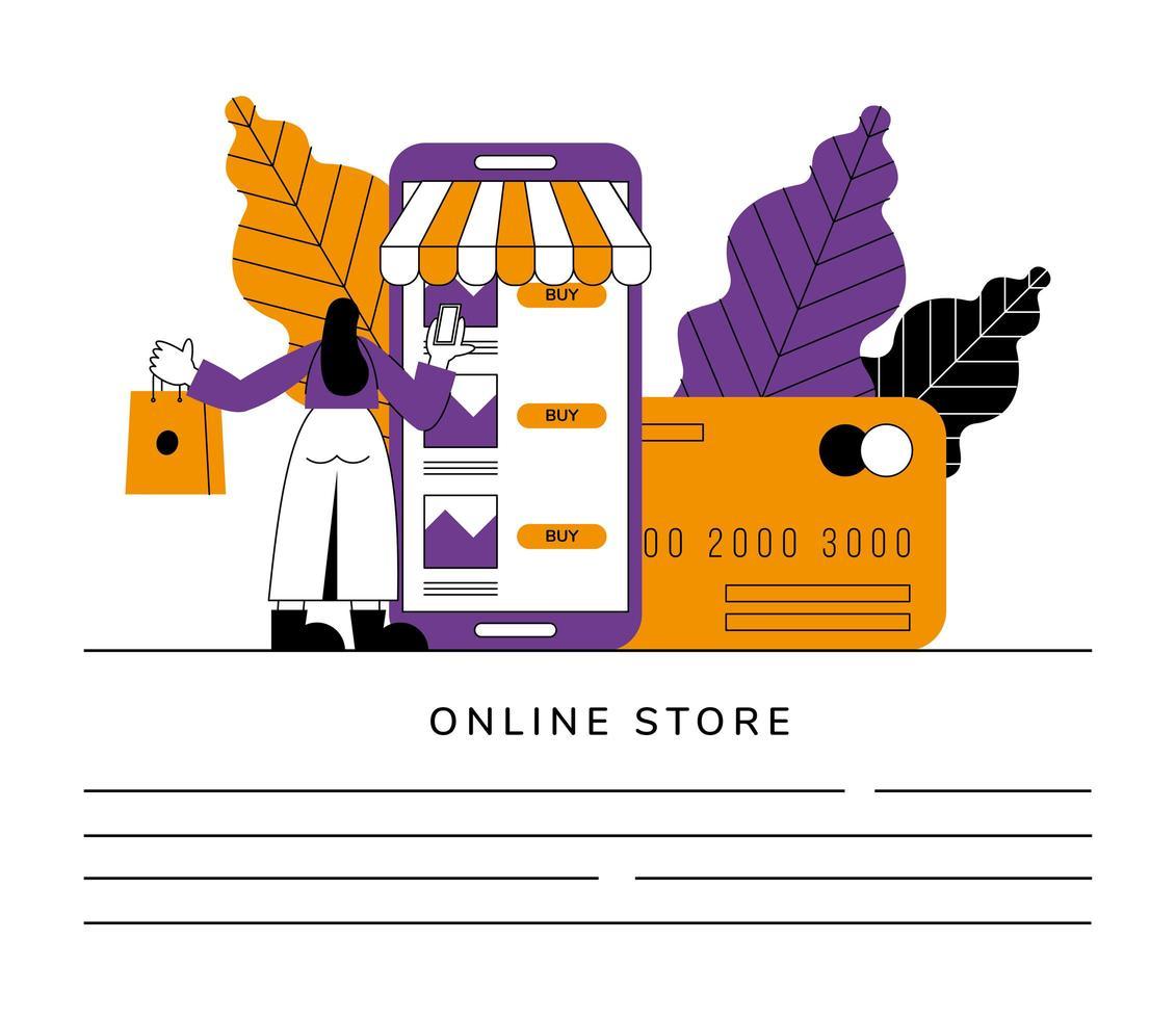 bannière de boutique en ligne vecteur