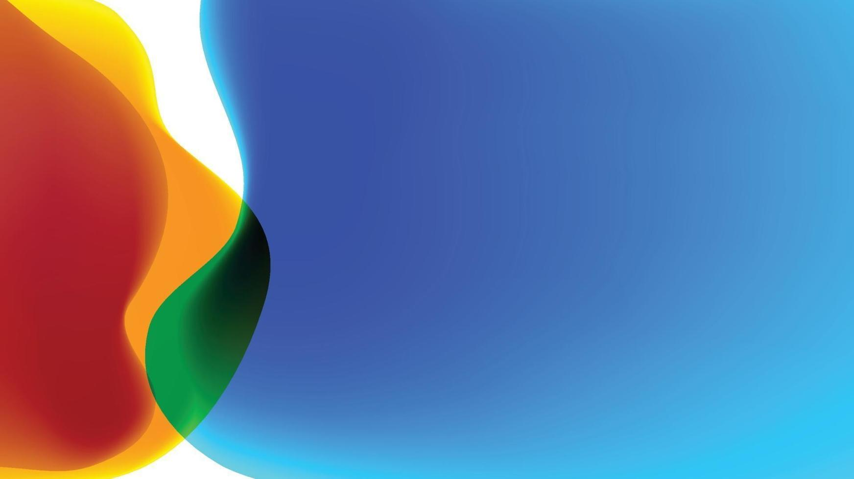 image de fond colorée avec des mélanges qui se chevauchent vecteur