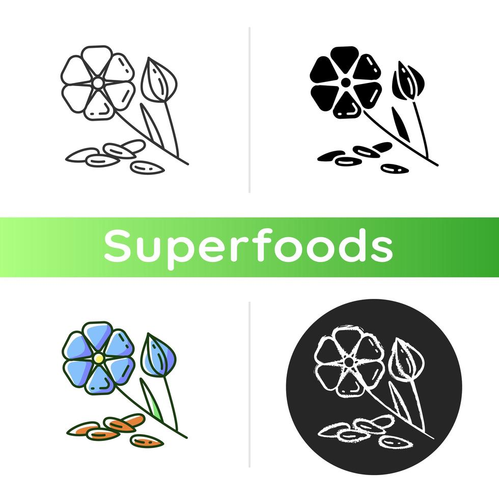 icône de plante de lin vecteur