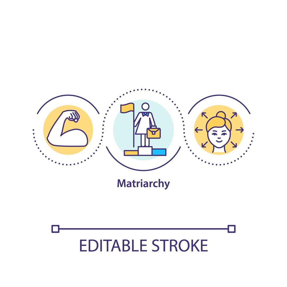 icône de concept de matriarcat vecteur