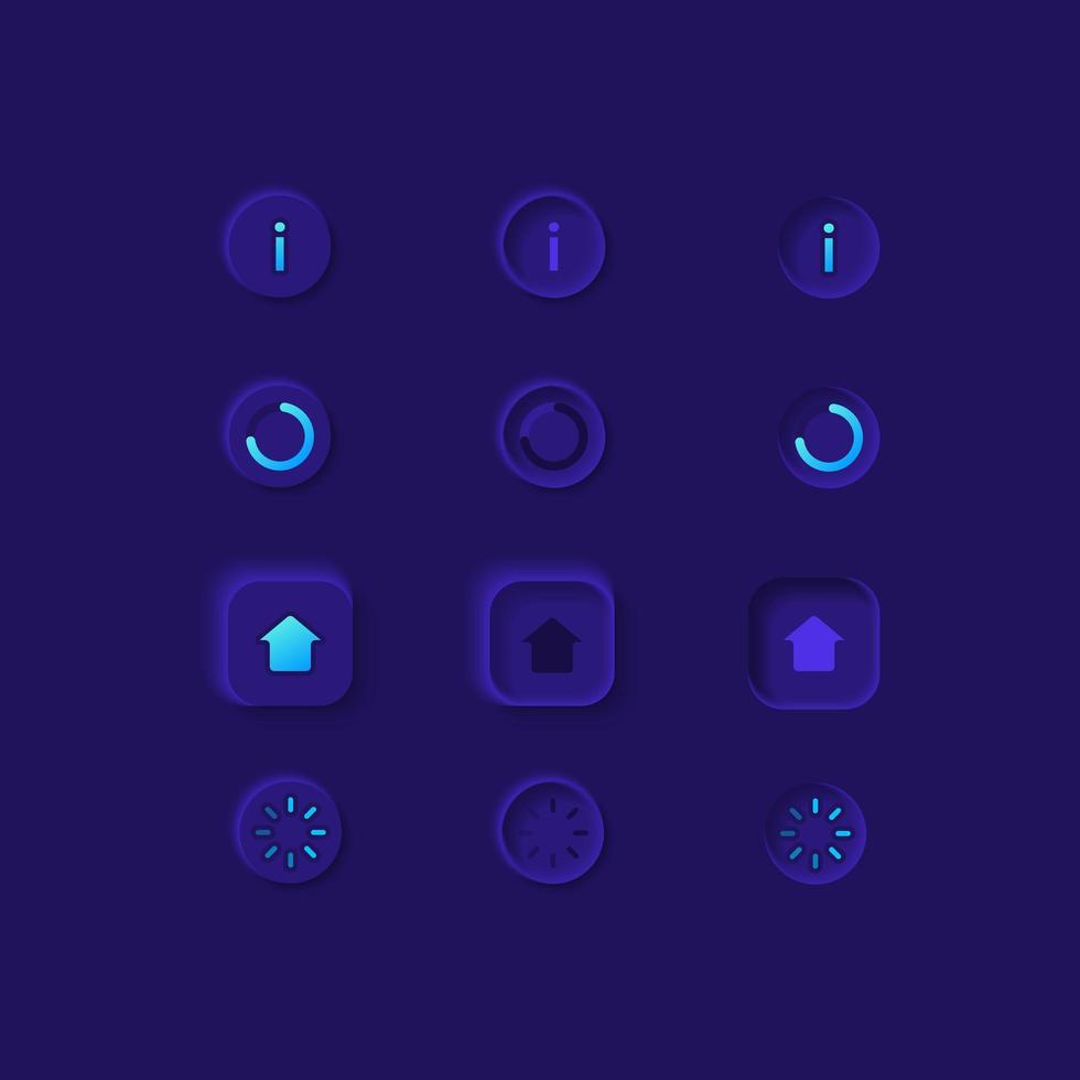 kit d'éléments de l'interface utilisateur de la page d'accueil vecteur